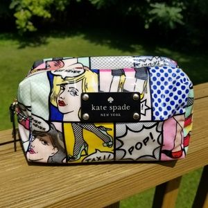 Kate Spade Daycation Comics KSNY Pop Cosmetic Case